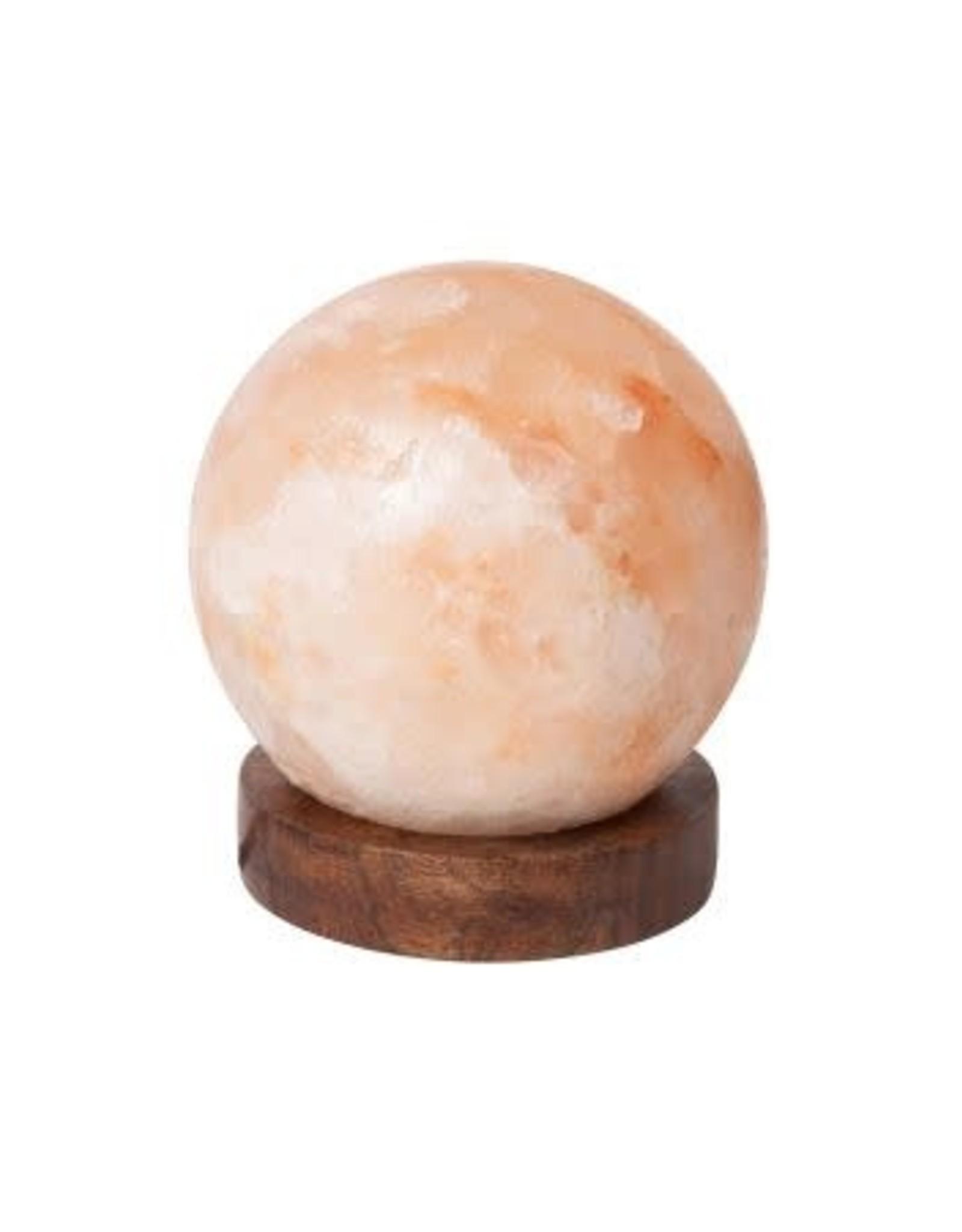 Salt Crystal Globe Lamp, Pakistan