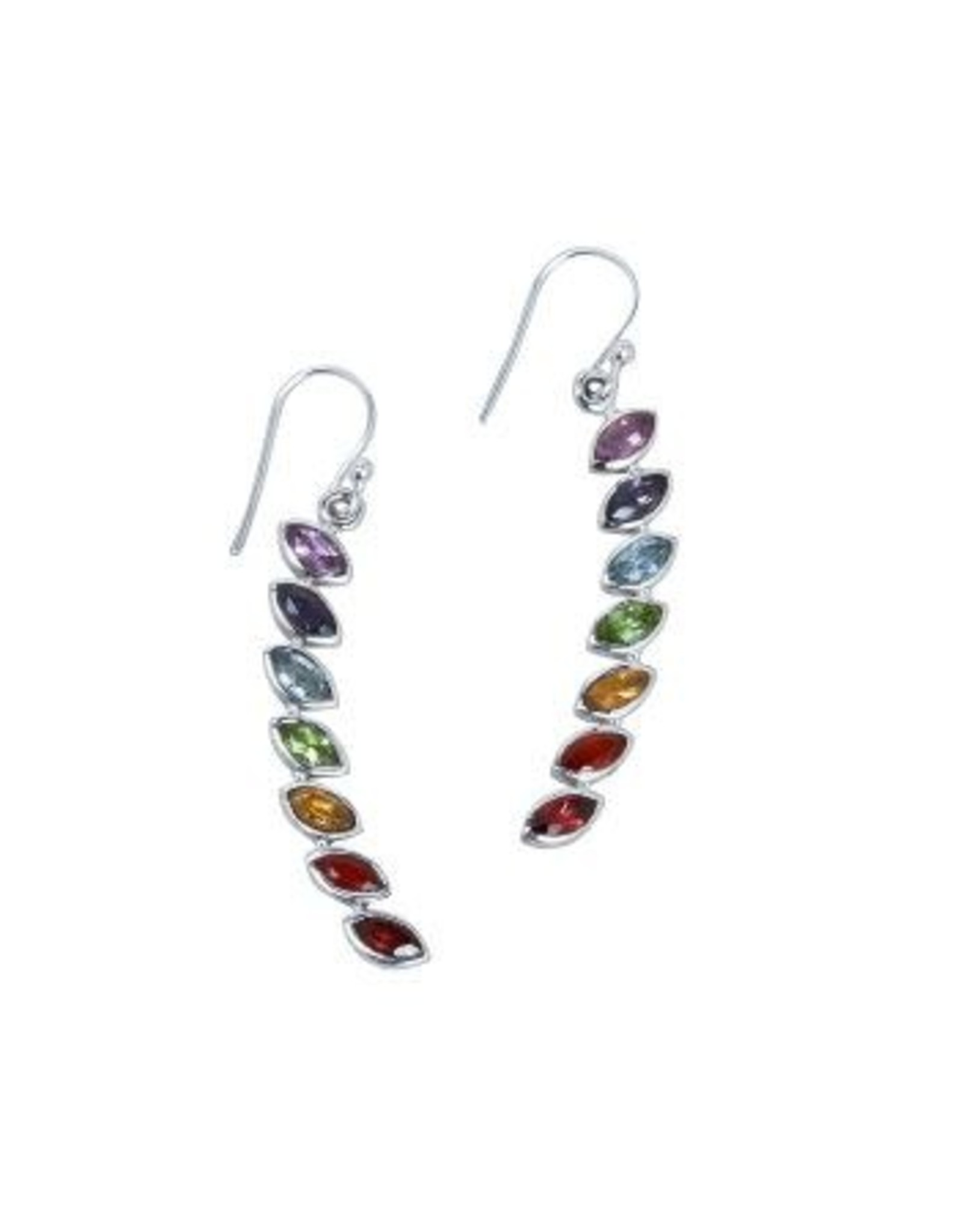 Chakra Stone Earrings, India