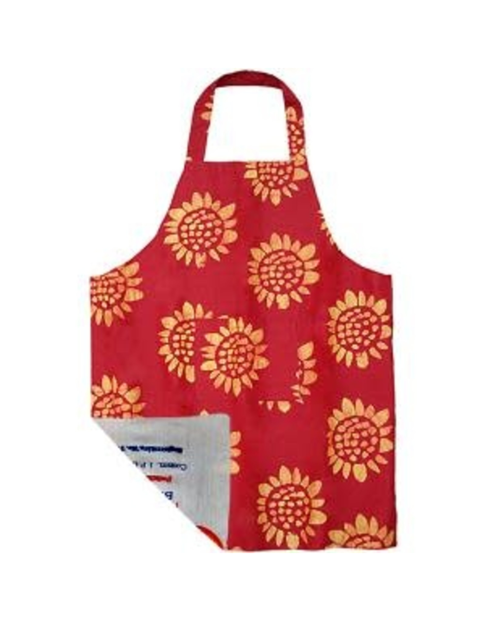 Reversible Apron, Sunflower Red