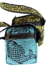 Cotton Zippered Cell Phone Bag, Nepal