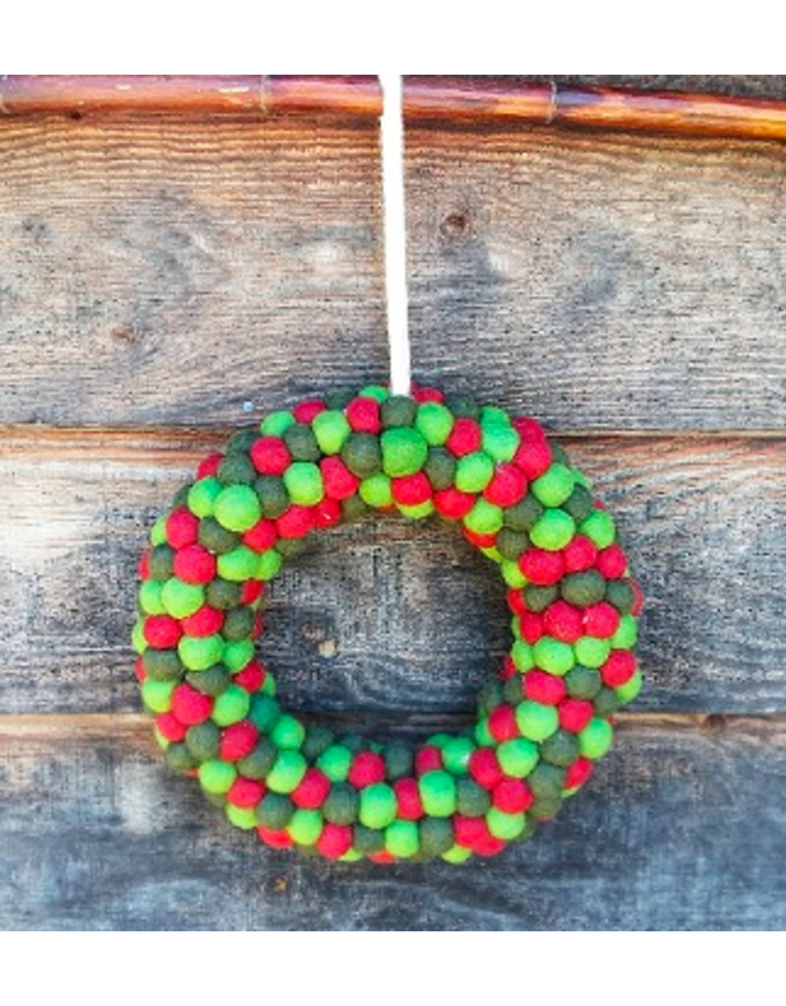 Felt Mini Ball Wreath, Nepal