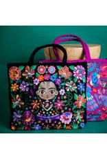 Baby Frida Embroidered Tote Bag, Guatemala