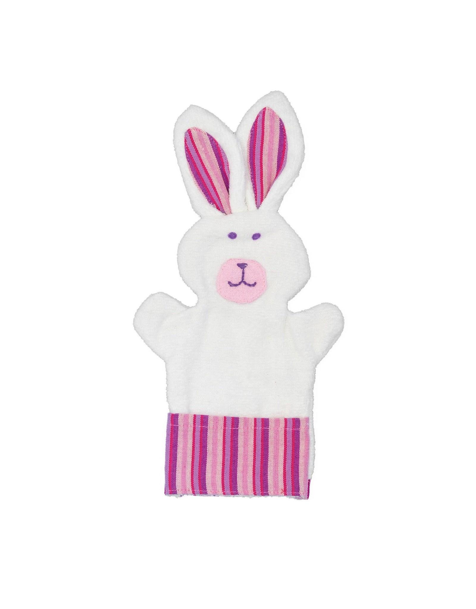 Bunny Puppet Baby Washcloth