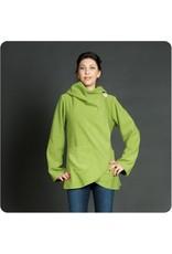 Fleece Jacket w/ Carved Bone Button, Lime