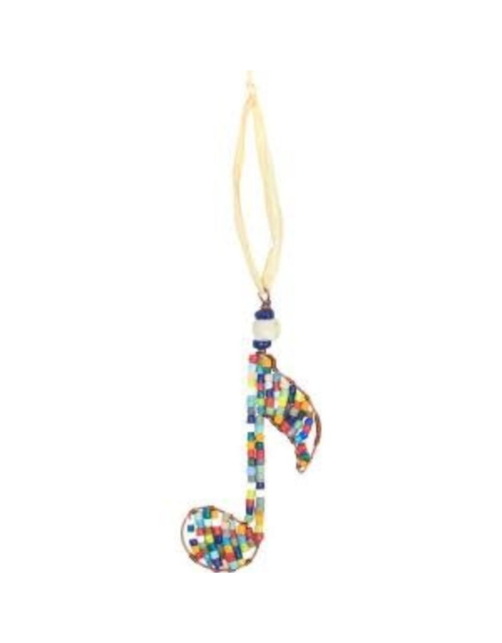 Beaded Musical Note Ornament, Ghana