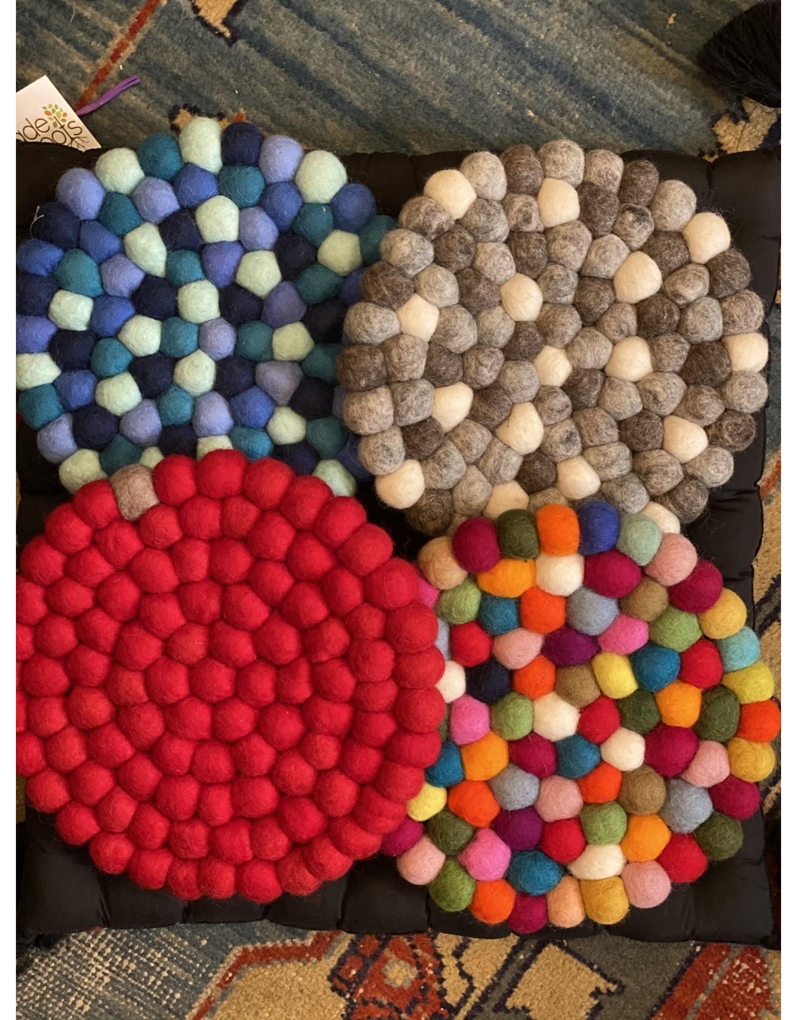 Felt Ball Trivet Nepal Trade Roots