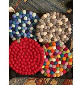 Felt  Ball Trivet, Nepal