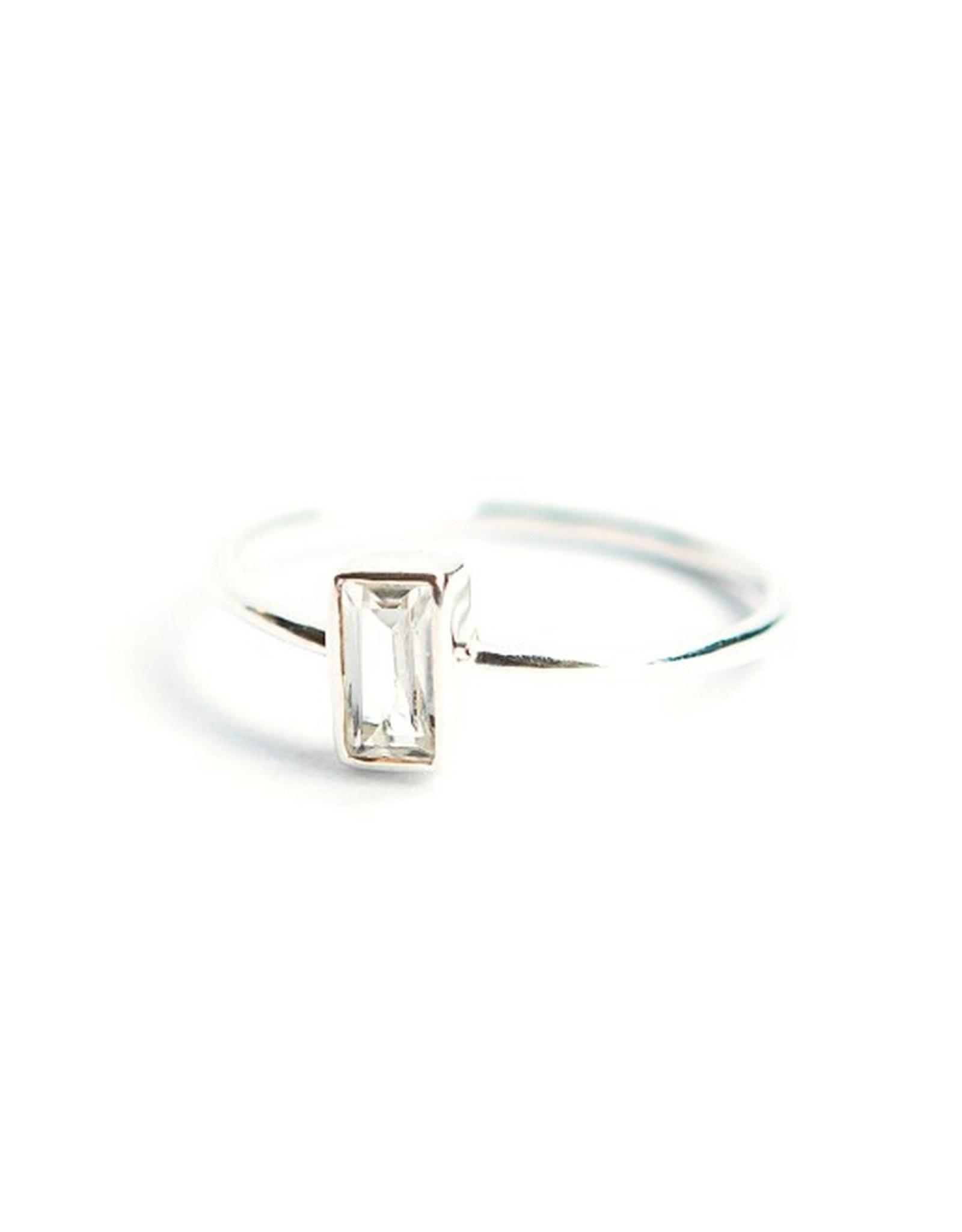 Prism Ring Crystal Sterling Crystal 7, India