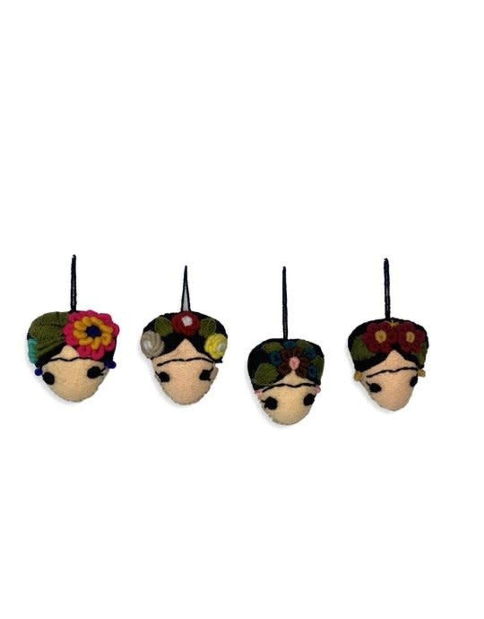 Frida Kahlo Felted Ornament INDIVIDUAL, Mexico