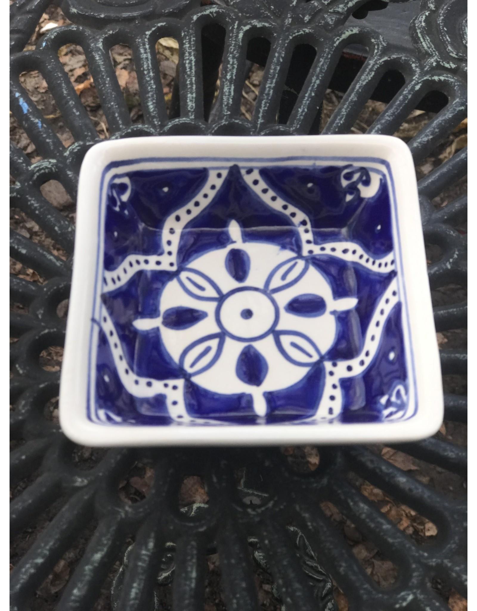 Ceramic Bowl Square, Assorted Colors and Patterns