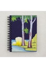 Large Notebook,Elephants,  Dark Blue, Sri Lanka