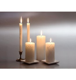 White on White 3 x 8 Pillar Candle