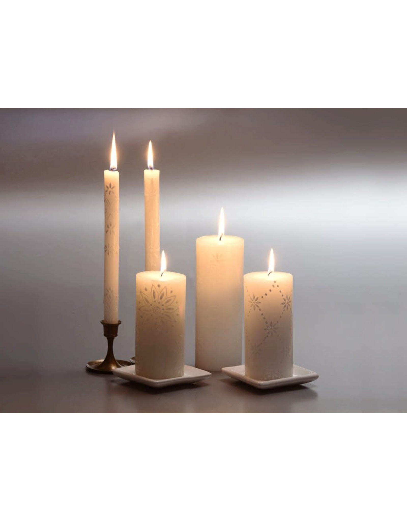 White on White, Pillar Candle 3 x 8 , South Africa
