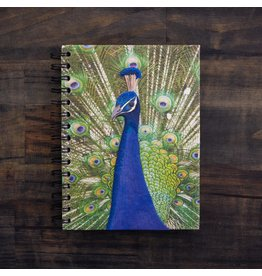 Large Notebook, Peacock, Sri Lanka