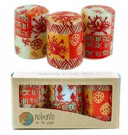 Hand Painted Votive Candles, Owoduni Design