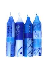 Hand Painted Shabbat Candles, Feruzi Design