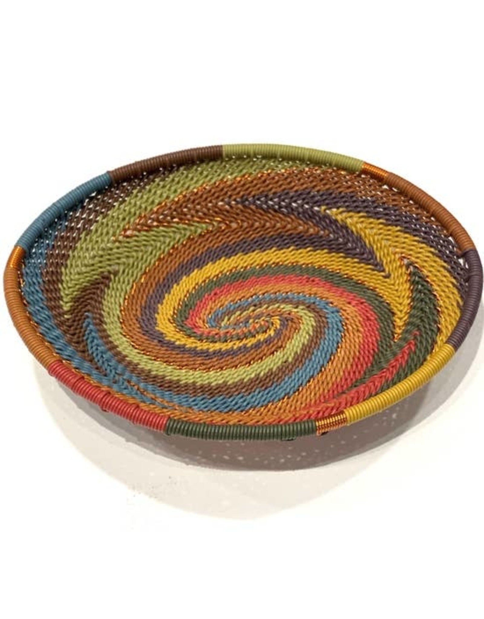 Small Oval Telephone Wire Bowl, Painted Desert