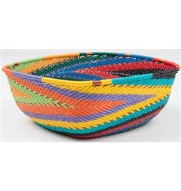 Medium Square Telephone Wire Bowl, African Spirit