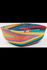 Medium Square Telephone Wire Bowl, African Spirit