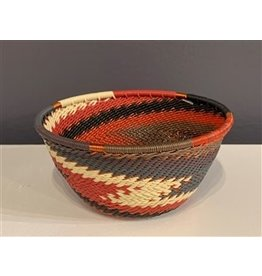 Small Round Telephone Wire Bowl, Red Pepper