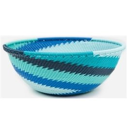 Medium Round Telephone Wire Bowl, African Ocean