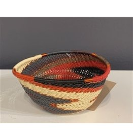 Small Triangle Telephone Wire Bowl, Red Pepper