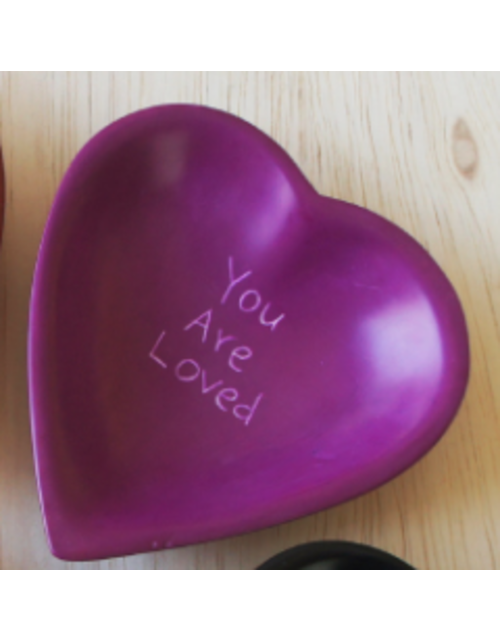 You Are Loved Soapstone Heart Dish