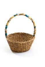 Sari Handle Harvest Basket, India