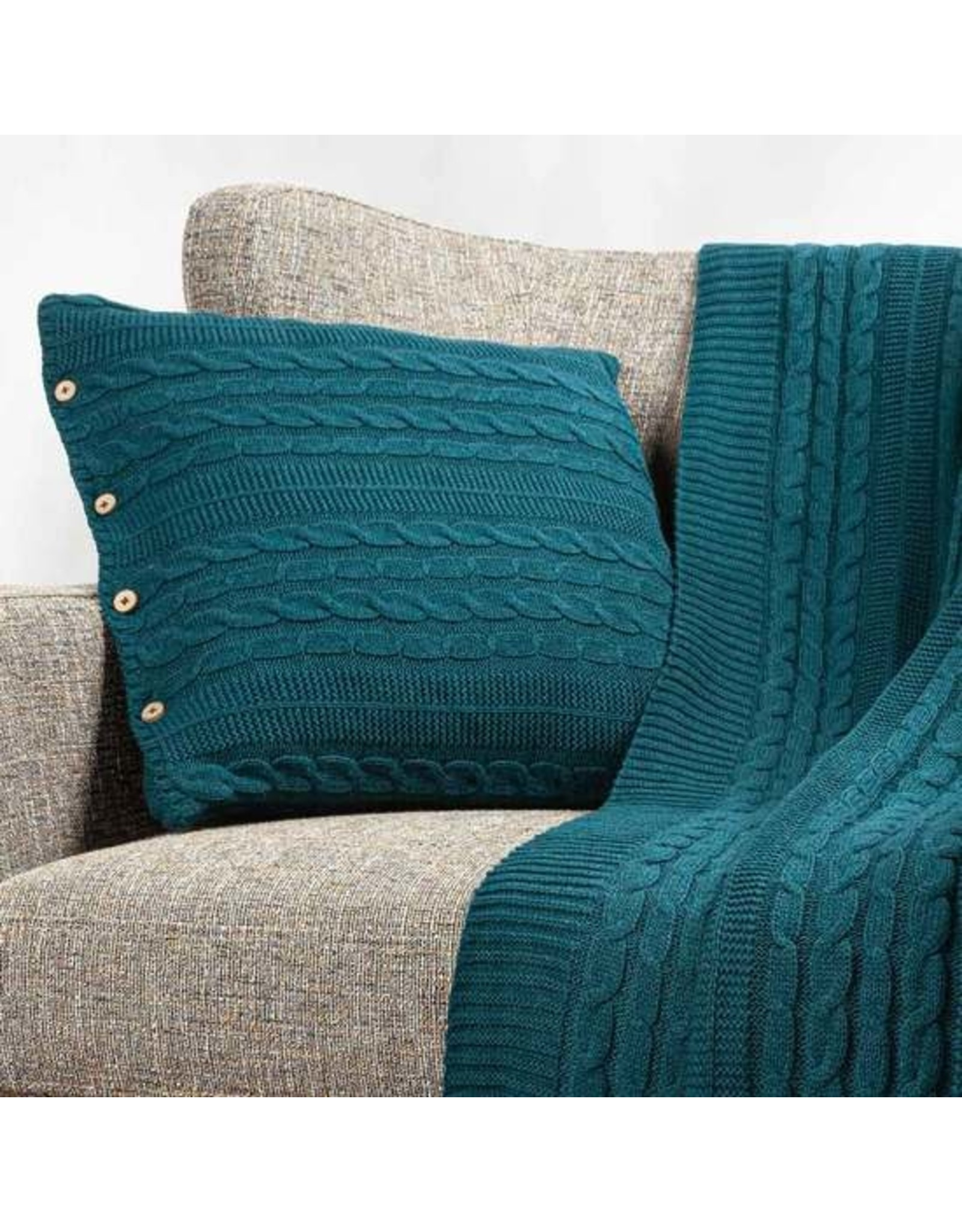 Organic Cotton, Cable Knit Pillow