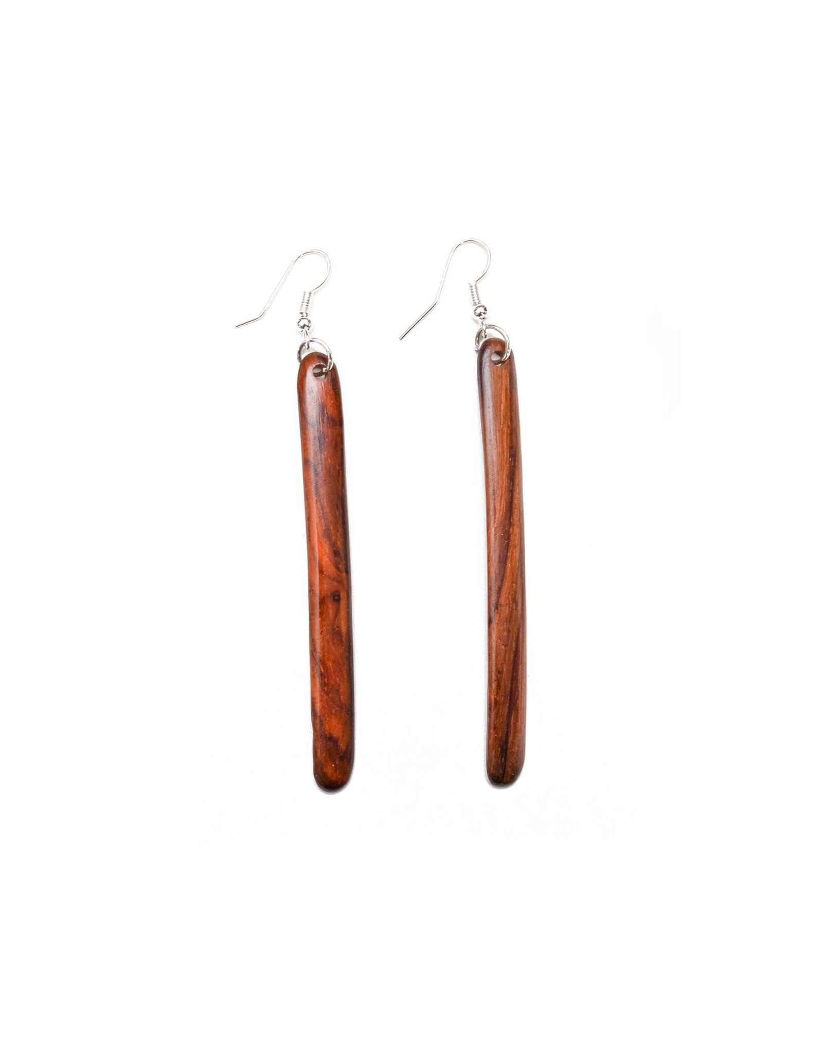 Wood Linear Earrings, Guatemala