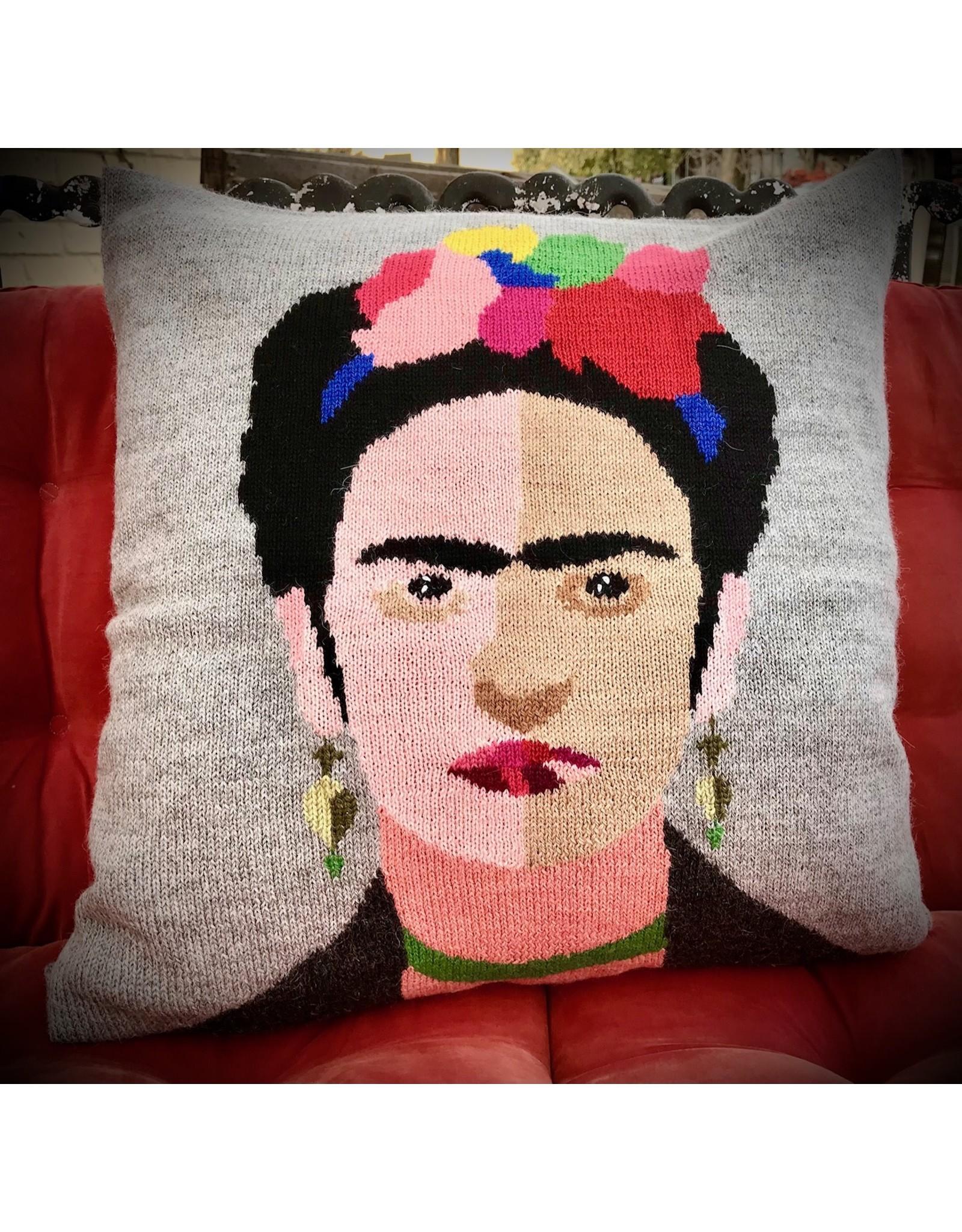 100% Alpaca Knit Frida Pillow Cover, Bolivia