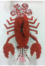 Lobster Wall Clock, Red, Colombia