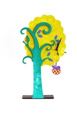 Tree with Bird in Nest Table Clock, Columbia