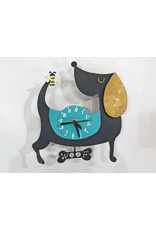 Woof Dog Clock, Black, Columbia