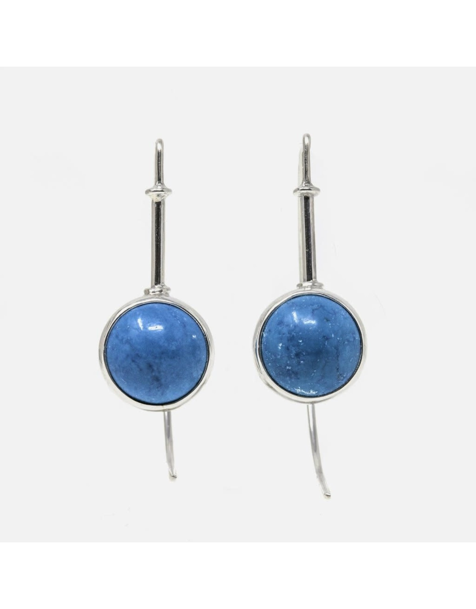 Turquoise & Sterling Silver Earrings, Mexico