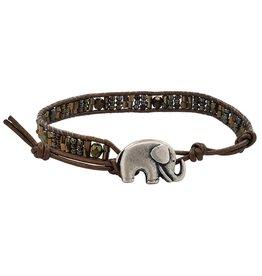 Sterling Silver Elephant Wrap Bracelet, Kenya