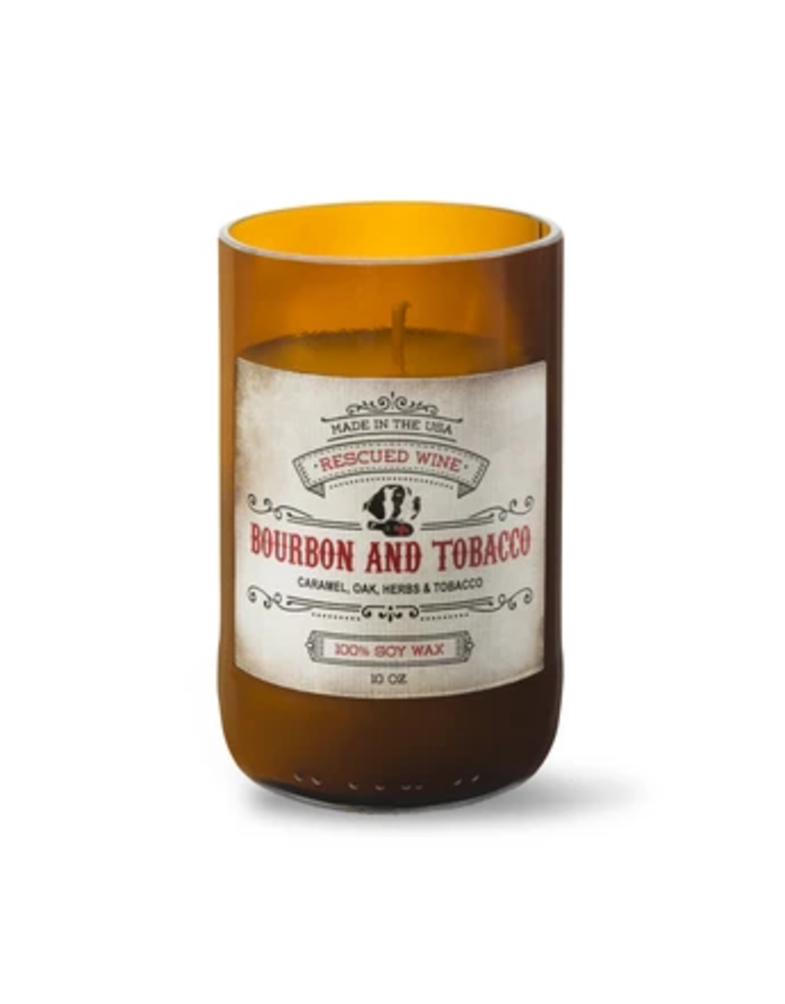 Rescued Soy Candle, Bourbon and Tobacco