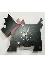 Scottie Dog Wall Clock, Black, Columbia
