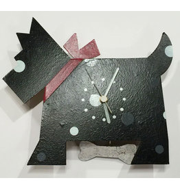 Scottie Dog Wall Clock, Black, Columbia