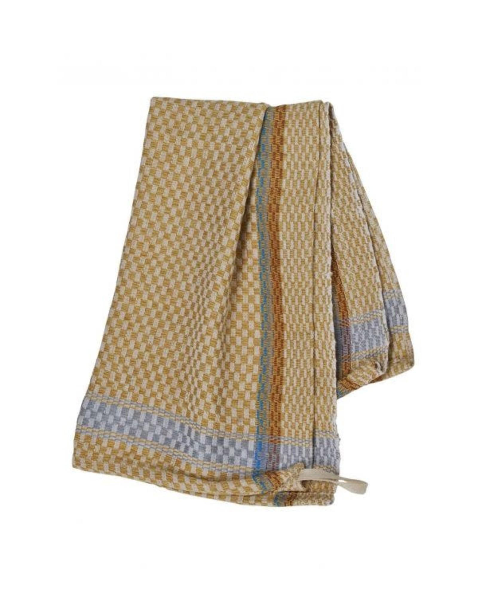 Checked Tea Towel, Yellow/Gold, Egypt