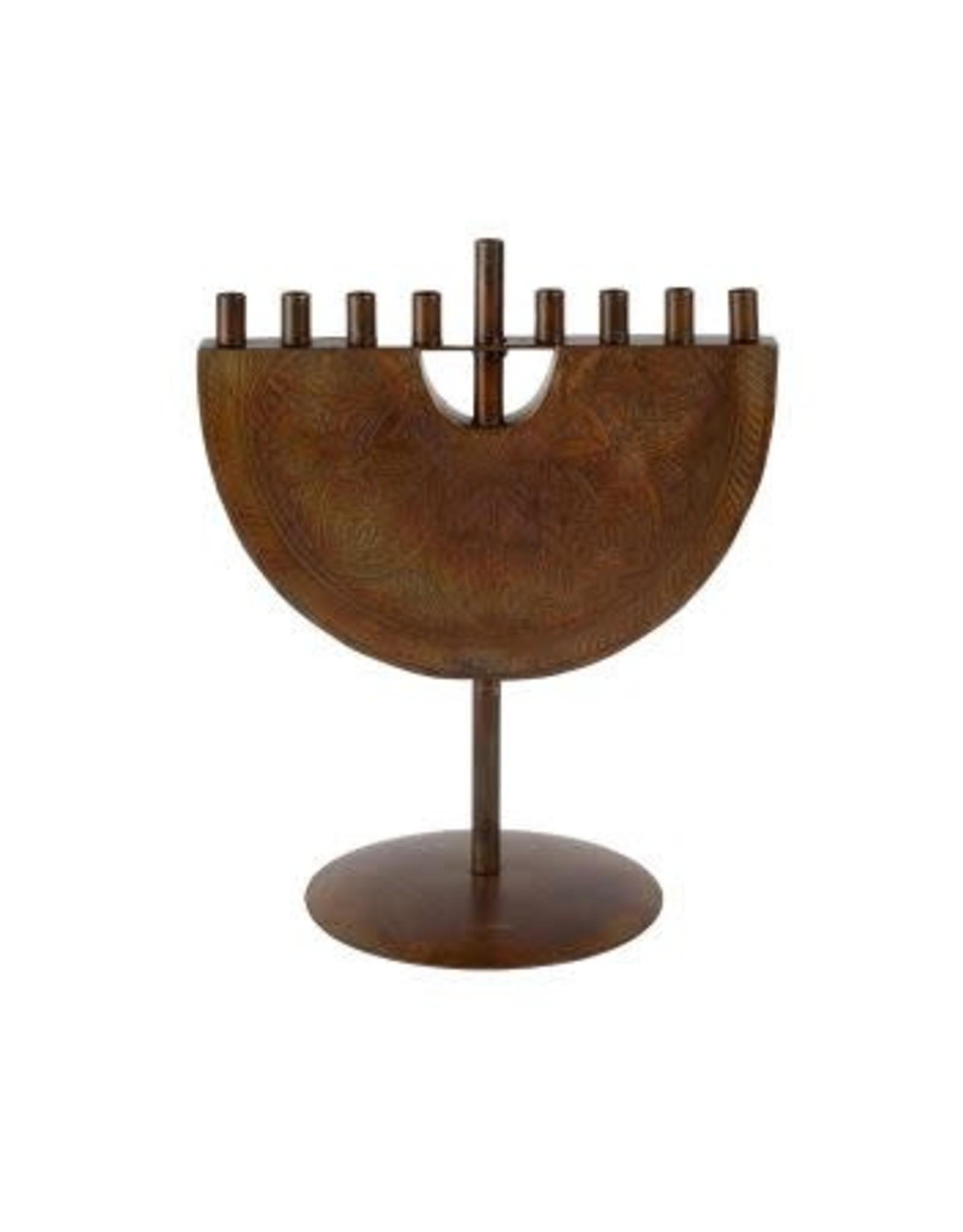 Engraved Iron Menorah, India