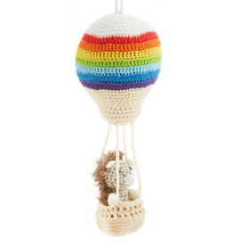 Aeronaut Hedgehog Crocheted Ornament, Vietnam