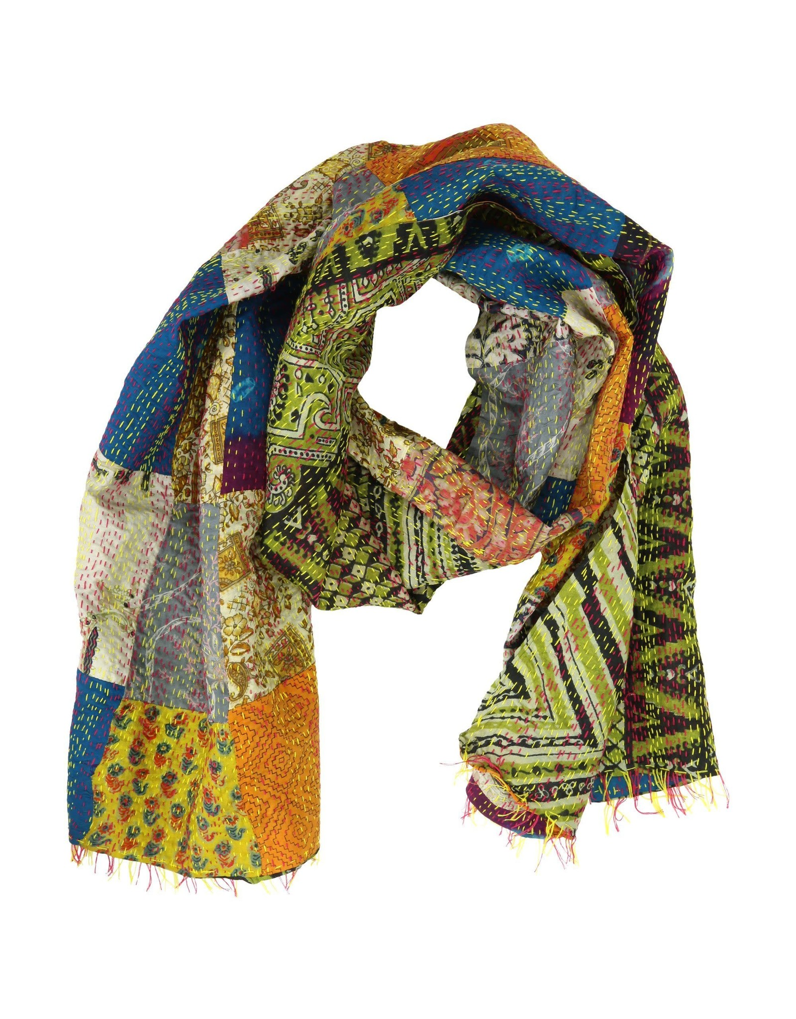Heirloom Silk Sari Scarf, India