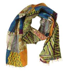 Heirloom Silk Sari Scarf, India