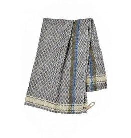 Blue Egyptian Cotton  Checked Tea Towel, Egypt