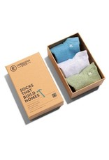 Socks that Build Homes, Set of 3 Ankle Height