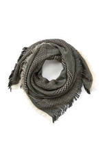 Black and White Square Scarf, India