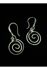 Jewel Tone and Resin Earrings Spiral, Mexico