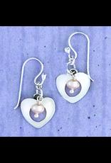 Sterling Heart w/FWP Wire Earrings, Mexico