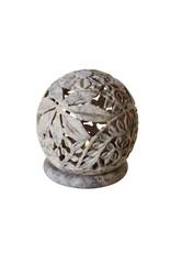 Gorora Stone Globe Candleholder, India